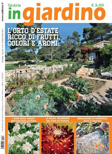 copertina in giardino giugno luglio
